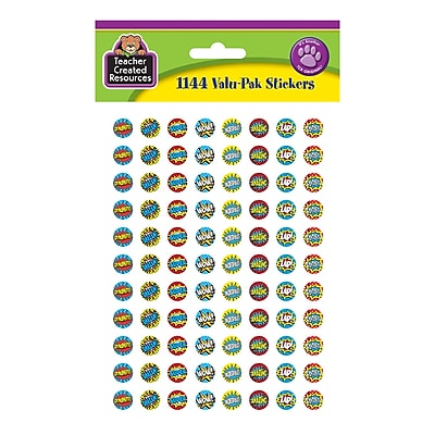 Superhero Mini Stickers Valu-Pak Multicolor, 1144/pkg (TCR5643)