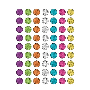 Teacher Created Resources Chalkboard Brights Colourful Chalk Mini Stickers Multicolour, 4536/Set (TCR5645)
