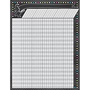 """17"""" by 22"""" Chalkboard Brights Incentive Chart, Multicolor (TCR7564)"""