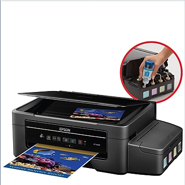 Epson - Imprimante jet d'encre sans fil tout-en-un Expression ET-2500 EcoTank avec numériseur et copieur