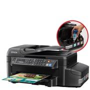 Epson - Imprimante jet d'encre tout-en-un sans fil WorkForce ET-4550 EcoTank avec numériseur, copieur et télécopieur