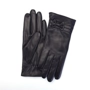 Royce Leather Ladies Lambskin Touchscreen Gloves, Black, Small