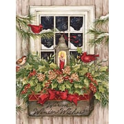 Lang Window Box Snow Boxed Christmas Cards, 1 Design, 18 Cards/Box