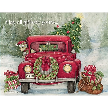 Lang Santa'S Truck Boxed Christmas Cards, 1 Design, 18 Cards/Box