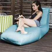 Jaxx Prado Outdoor Bean Bag Chaise Lounge Chair; Lagoon Blue