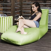 Jaxx Prado Outdoor Bean Bag Chaise Lounge Chair; Lime Green