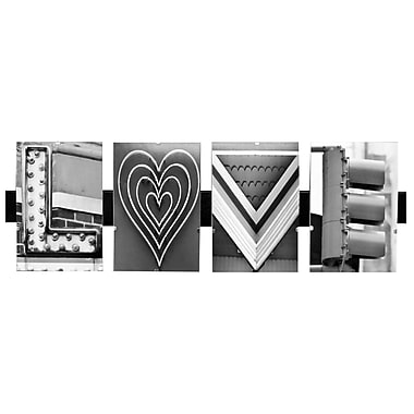 LanguageArt Love by Greg and Dilynn Puckett Textual Art in Black and White