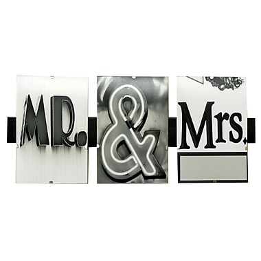 LanguageArt Mr and Mrs by Greg and Dilynn Puckett Textual Art in Black and White