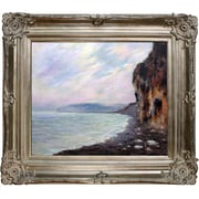 Tori Home Cliffs at Purville in the Fog by Claude Monet Framed Painting Print