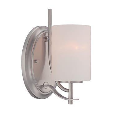 Designers Fountain Cassina 1-Light Wall Sconce; Satin Platinum