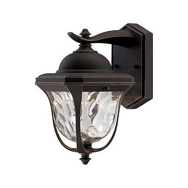 Designers Fountain Marquette 1-Light Outdoor Wall Lantern; 10.25'' H x 6.5'' W x 7.75'' D