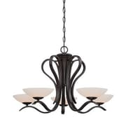 Designers Fountain Galena 5-Light Shaded Chandelier