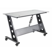 Pit Stop Furniture Racing Style Writing Desk; Clear