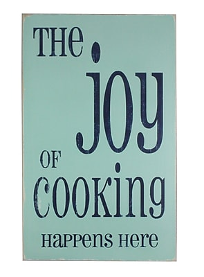 BarnOwlPrimitives The Joy of Cooking Textual Art Plaque
