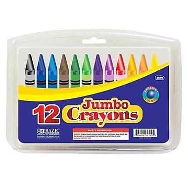 Bazic 12 Color Premium Quality Jumbo Crayon Set; Case of 12