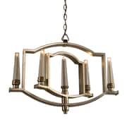 Artcraft Lighting Perceptions 5-Light Candle-Style Chandelier; Silver Leaf