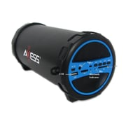 Axess  SPBT1031 Portable Bluetooth Indoor/Outdoor 2.1 HiFi Cylinder Loud Speaker, Blue