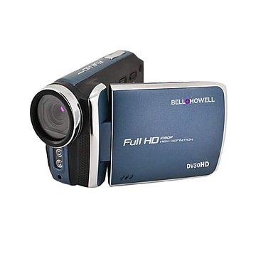 """Image of Bell & Howell Fun Flix DV30HD 1080p HD 20MP Digital Camcorder with 3"""" Touchscreen, 1x Optical, Blue"""