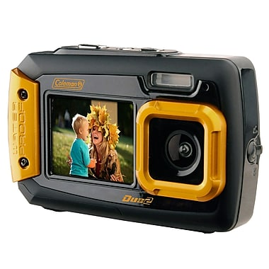 Coleman Duo2 2v9wp 20 MP Digital Camera, Orange