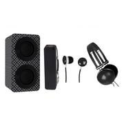 Naxa  NAS3061 Portable Bluetooth Stereo Speakers Entertainment Pack, Black