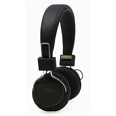 Nutek HP77MF1 Handsfree Headphones with Microphone, Black