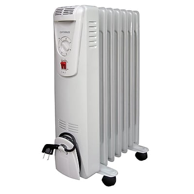 Optimus 1500 W Portable Oil Filled Radiator Heater; White (h-6010)