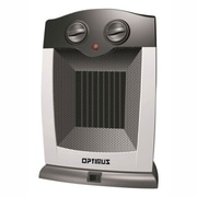 Optimus 1500 W Portable Oscillating Ceramic Heater, Silver (h-7248)