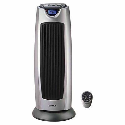Optimus 1500 W Oscillating Tower Heater; Silver (h-7315)