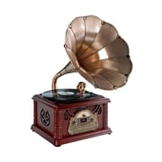 Pyle  Classical Trumpet Horn Turntable/Phonograph with AM/FM Radio CD/Cassette/USB/Direct to USB Recording (ptcdcs3uip)