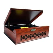 Pyle  Retro Vintage Classic Style Turntable Vinyl Record Player with USB Computer Recording, Mahogany (pvntt6umr)
