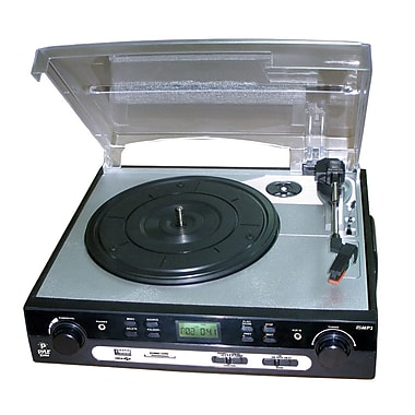 Pyle USB Turntable with Direct-to-Digital USB/SD Card Encoder/Built-in AM/FM Radio Conversion (plttb9u)