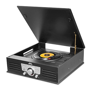 Pyle Bluetooth Classic Style Record Player Turntable with Vinyl to MP3 Recording/USB/SD Card Reader (ptt25ubt)