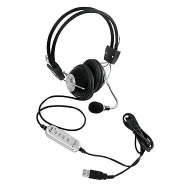 Pyle PHPMCU10 Multimedia/Gaming USB Headset with Noise-Canceling Microphone, Black