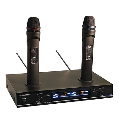 Pyle 76740 Dual VHF Wireless Microphone System