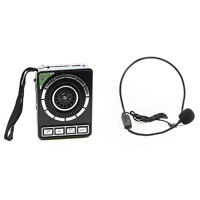 QFX CS95 Portable PA Speaker System, Black