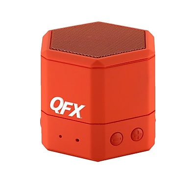 QFX BT43WA Portable Hand Free Wireless/Wired Speaker, Red