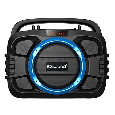 Supersonic IQ Sound IQ2400BT Bluetooth Portable Audio System, Blue
