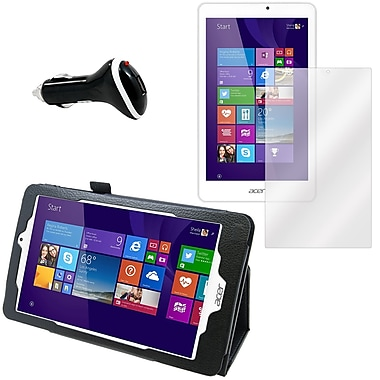 Mgear Screen Protector, Folio and Charger for Acer Iconia Tab W1810 (91600)