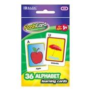 Bazic Alphabet Preschool Flash Cards; Case of 72