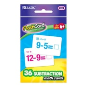 Bazic Subtraction Flash Cards; Case of 24