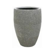 LaKasaLLC Round Pot Planter; 22.05'' H x 12.8'' W x 12.8'' D