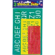 Bazic Lettering Stencil Sets (Set of 3); Case of 24