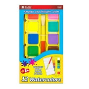 Bazic 12 Watercolor and Mixing Palette Set; Case of 24