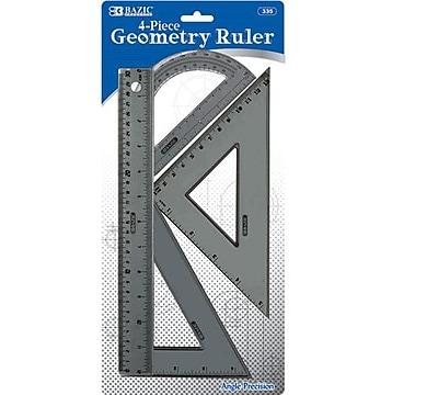 Bazic Geometry Combination Ruler Set; Case of 24