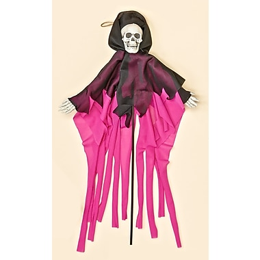 Worth Imports Robed Skeleton On Stick; Purple