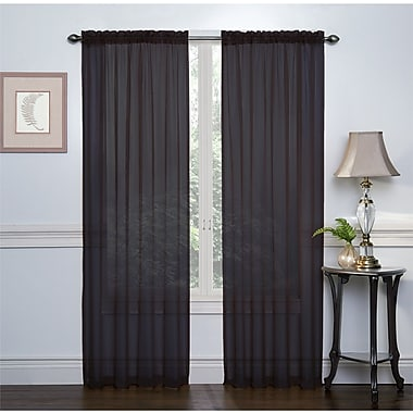 Regal Home Collection Crystal Sheer Curtain Panel