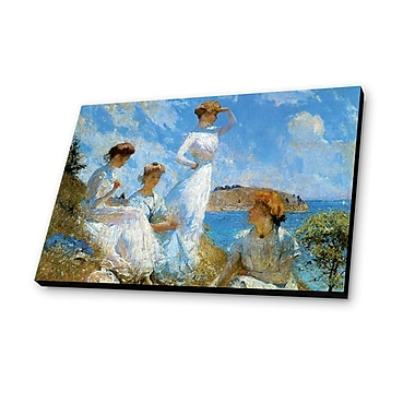 Lamp-In-A-Box Summer 1909 by Frank Weston Benson Painting Print Plaque