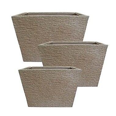 LaKasaLLC 3-Piece Plastic Pot Planter Set