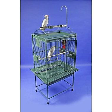 A&E Cage Co. Large Play Top Bird Cage; Black