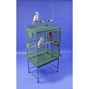 A&E Cage Co. Large Play Top Bird Cage; Burgundy
